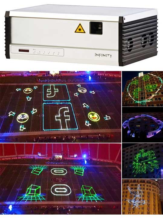 Профессиональная лазерная реклама